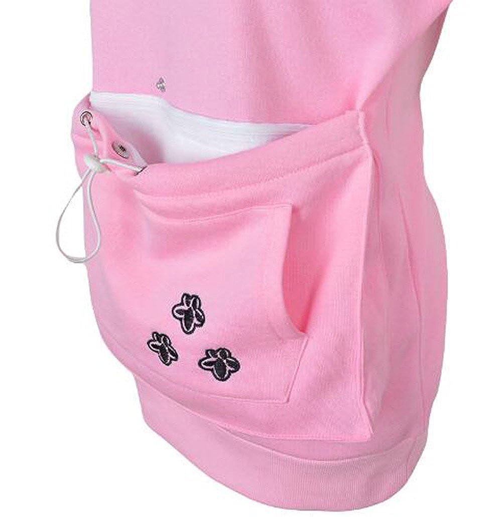 Xyfushi Holder Mewgaroo Chien Chat Hoodie Cat Eared Kangaroo Pouch Femmes Hommes Sweatshirt