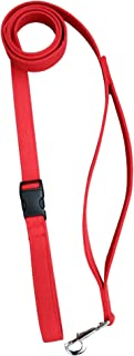 """product image for Hemp Canvas Basic Leashes (1"""" City Clicker, Red)"""