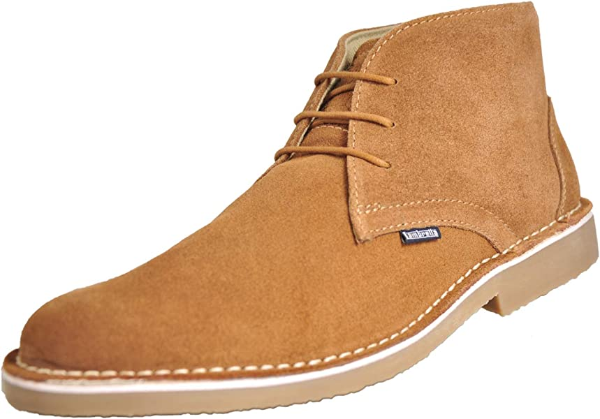 Lambretta CARNABY 2 Mens Suede Leather Smart Casual Desert Boots Shoes Brown