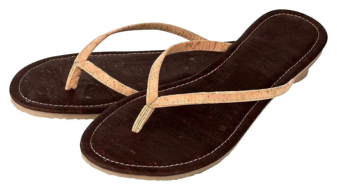 Kork Zehentrenner für Damen – nachhaltige Sandalen aus