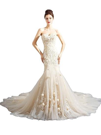Angel Formal Dresses Womens Rhinestone Crystal Beading Mermaid Lace