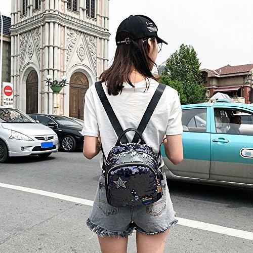 Amazon.com: SODIAL Women Backpack School Bags For Girls Small Backpacks Female Travel Backpack Sequins School Backpacks Black: Shoes