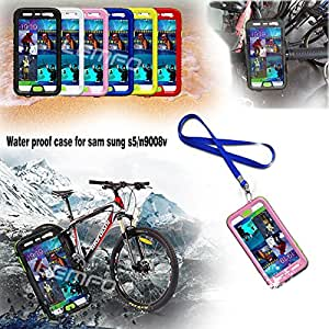 Deal4U New IPX-8 100% Waterproof Shockproof Dustproof Drop Resistance Swimming Diving Case Cover For Samsung Galaxy S5 SV i9600 G900S #-# Color#=Yellow
