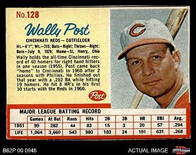 Amazoncom 1962 Post Cereal 128 Wally Post Cincinnati Reds