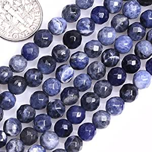 GEM-inside 6mm Round Facted Sodalite Beads For Jewelry Making Beads