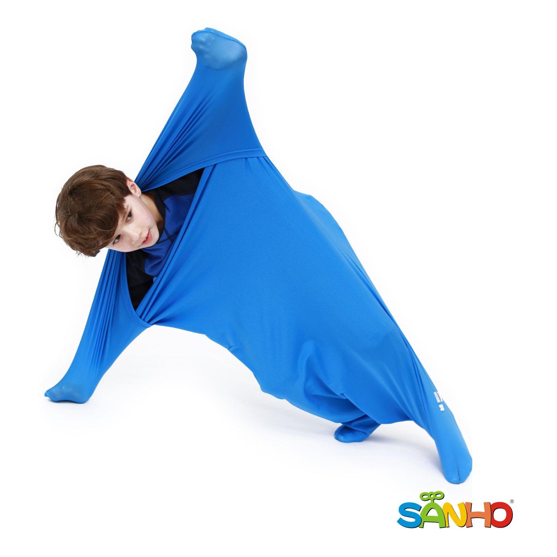 Sanho Premium Sensory Sock,Updated Version, Large, 70'' L x 28'' W, Good for height: 63''+ Blue