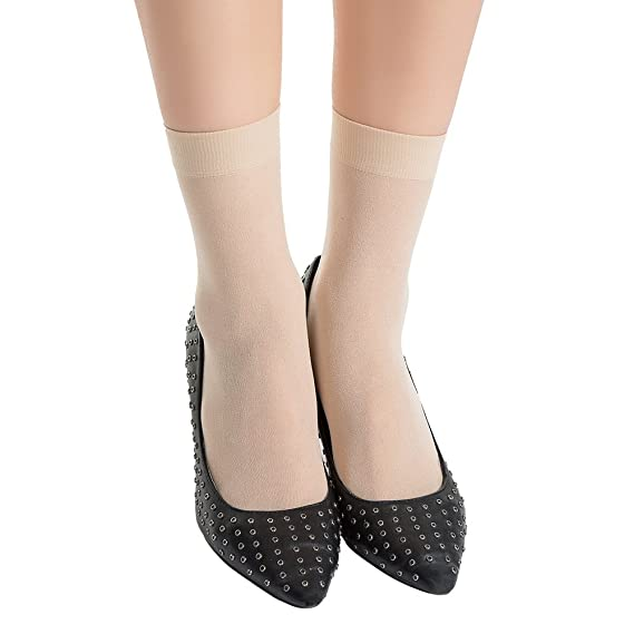 MANZI Damen 12 Paar High Ankle Sheer Socken Bequeme Atmungsaktive Nylon S/öckchen