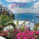 Greece 2020 12 x 12 Inch Monthly Square Wall Calendar with Foil Stamped Cover, Scenic Travel Europe Greece