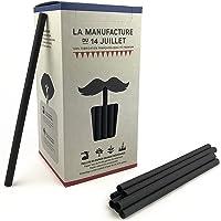 La Manufacture 140 stuks papieren rietjes, 140 grote zwarte rietjes, biologisch afbreekbaar, voor dranken met en zonder…