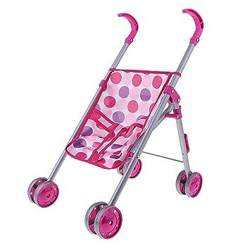 D DOLITY Mini Baby Push Cart Dolls Accesorios Niños Juego De Imaginación Carrito Carrito Decoración De