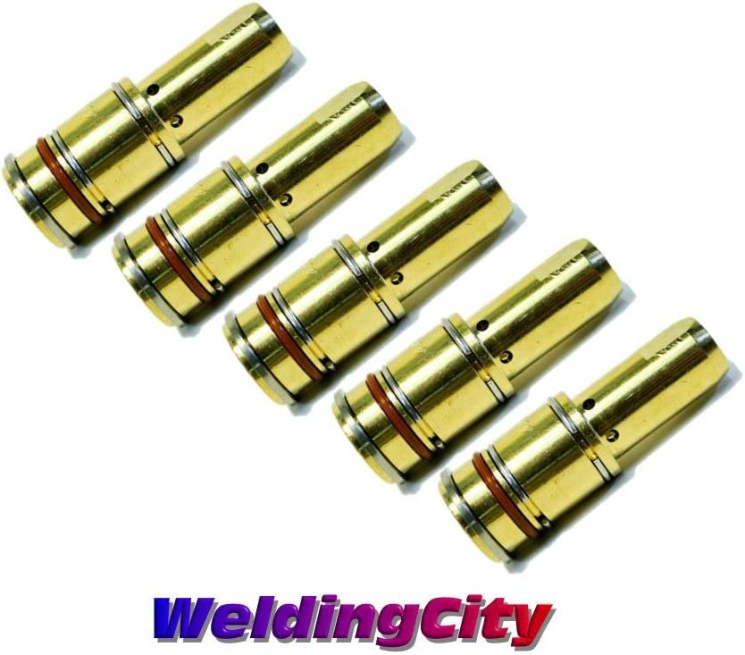 WeldingCity 5 Gas Nozzles 4393 5//8 Copper for Bernard Q//S 200-300A MIG Welding Guns