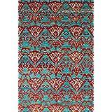 "Ecarpetgallery Hand-knotted Sari Silk Open Field 5'2"" x 7'6"" Red 100% Sari Silk area rug"