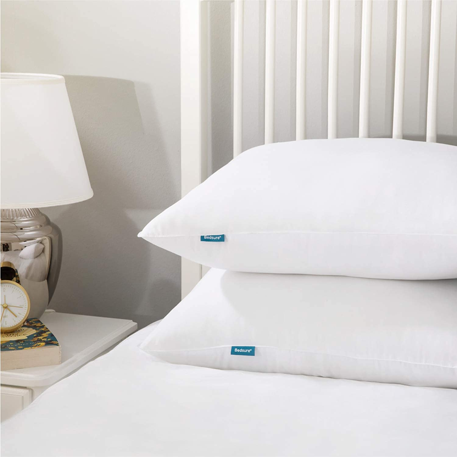 Bedsure Bed Pillows for Sleeping 2 Pack - Soft Down Alternative Hotel Quality Pillow Set Standard Size 20X26 inches - Hypoallergenic Sleep Pillows for Side and Back Sleeper: Home & Kitchen