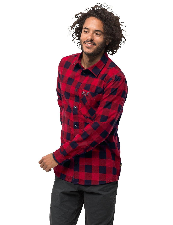 Jack Wolfskin Herren Red River Shirt Hemd für Reise Freizeithemd Atmungsaktiv