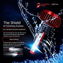 LIGHTENING DARK H1 LED Headlight Bulbs Conversion Kit, CREE XPL 6K Cool White,7200 Lumen - 3 Yr Warranty