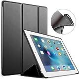 iPad 2/3/4 ケース アイパッド スマートケース FUNDA Apple iPad 2/3/4 第二世代 第三世代 第四世代 スマートケース スタンド機能 傷つけ防止 TPUバック 保護ケース(ブラック)