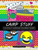 Camp Stuff 24 Page Coloring Book: 24 Totally Awesome Coloring Pages