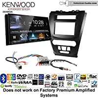 Volunteer Audio Kenwood DDX9904S Double Din Radio Install Kit with Apple CarPlay Android Auto Bluetooth Fits 2010-2012 Fusion (Black) (Not for factory amplified systems)