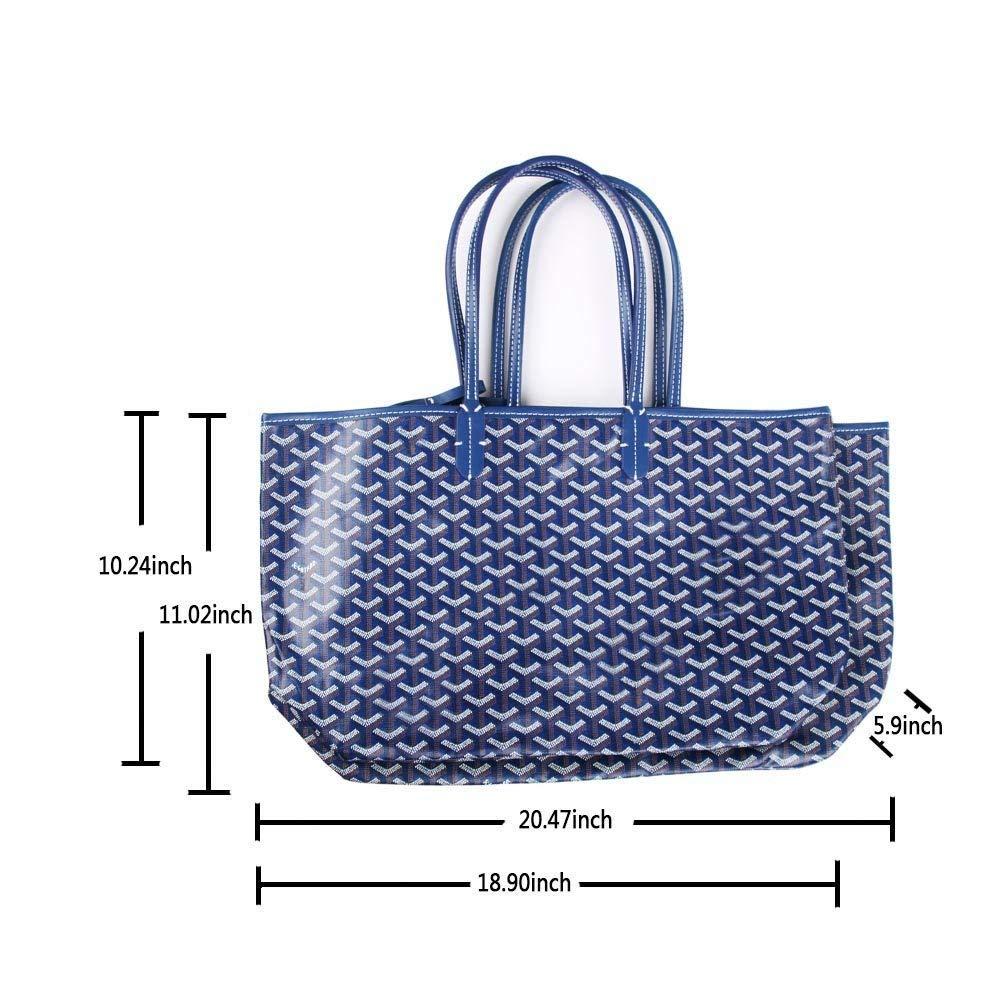 Stylesty Fashion Shopping PU Tote Bag, Designer Shoulder Handbags with Key Ring (Large, Grey) by Stylesty (Image #6)