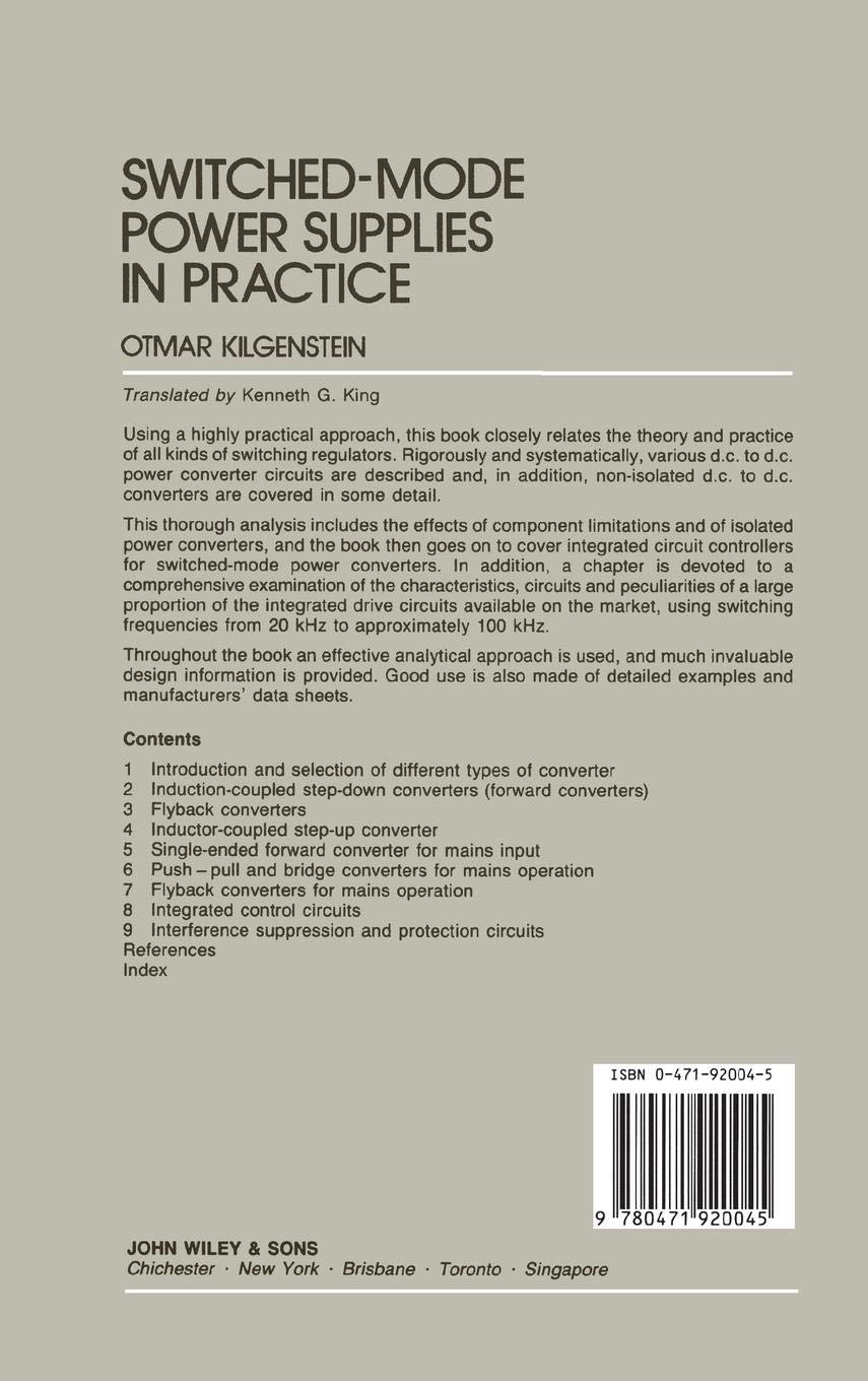 Buy Switched-Mode Power Supplies in Practice Book Online at