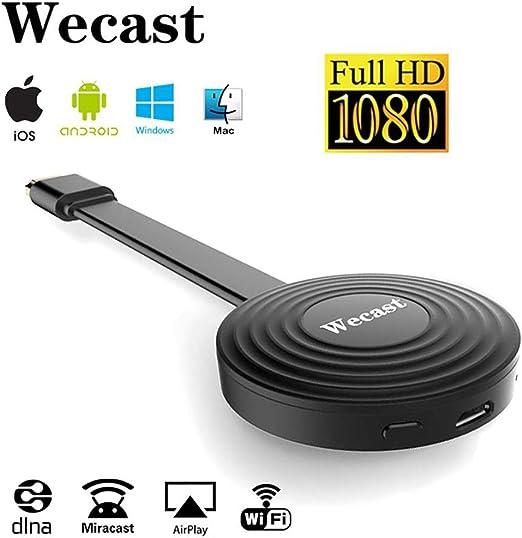 Wireless WiFi Display dongle, Soporte de Sistema Android para Google Chrome, HDMI 1080P Digital TV Adaptador de Receptor, Chromecast Netflix Youtube Miracast AirPlay Mirroring: Amazon.es: Hogar
