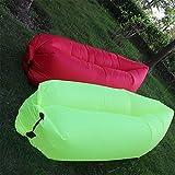 Findbest Outdoor Quick Inflatable Lounger, Lightweight Imitate Nylon Fabric Beach Lounger Convenient Compression Air Bag Hangout Bean Bag Portable Dream Chair (green)