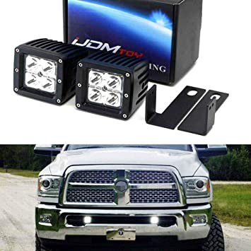 H11 9005 LED Headlight+9145 H10 Fog Light for 2009-2018 Dodge Ram 1500 2500 3500