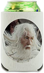 The Lord of the Rings Gandalf the White Character Can Cooler - Drink Sleeve Hugger Collapsible Insulator - Beverage Insulated Holder