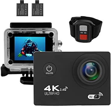 360° Sport Action Camera HD 4K DV Camcorder 2.4G WiFi Remote Control Camcorders