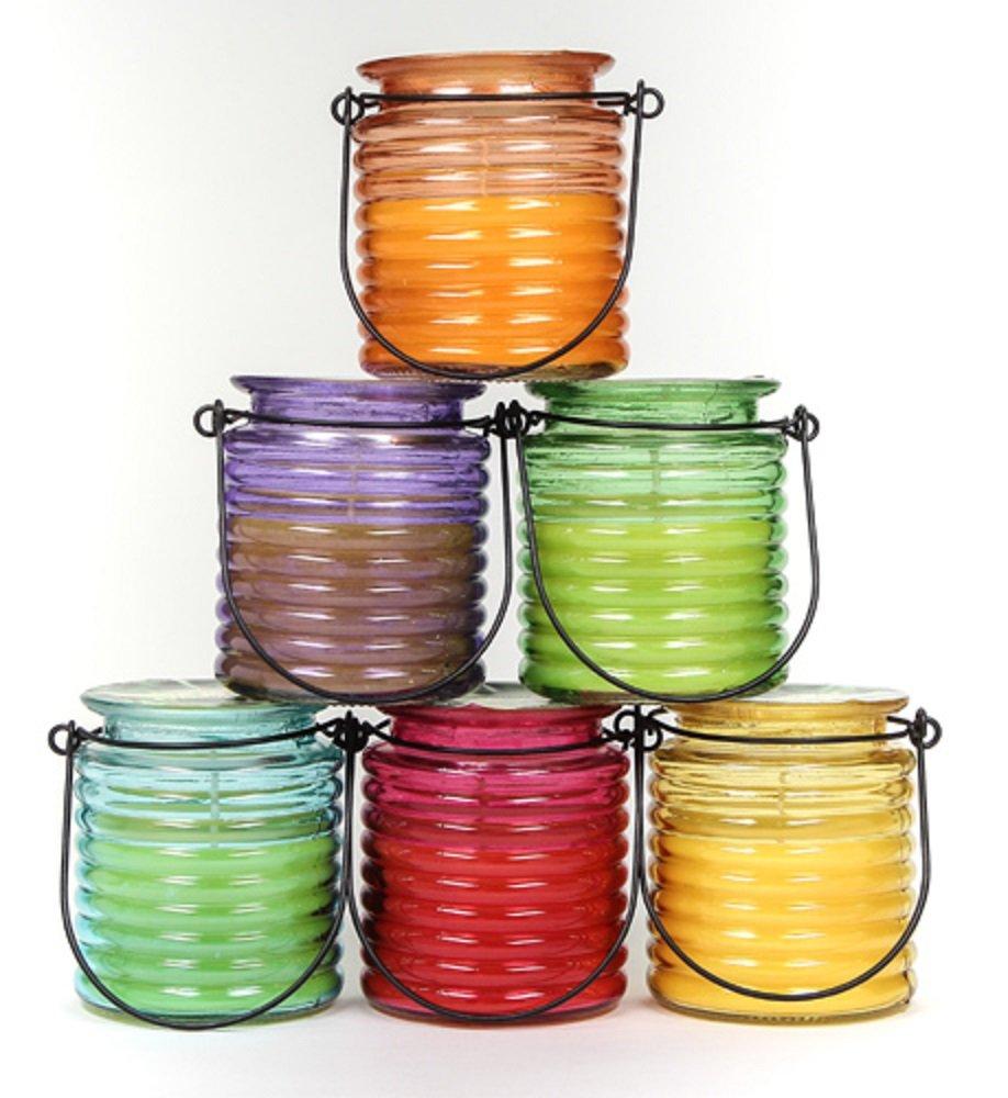 Citronella Duftkerze Kerze im Glas zum hängen, Tischdekoration versch. Farben Stolz