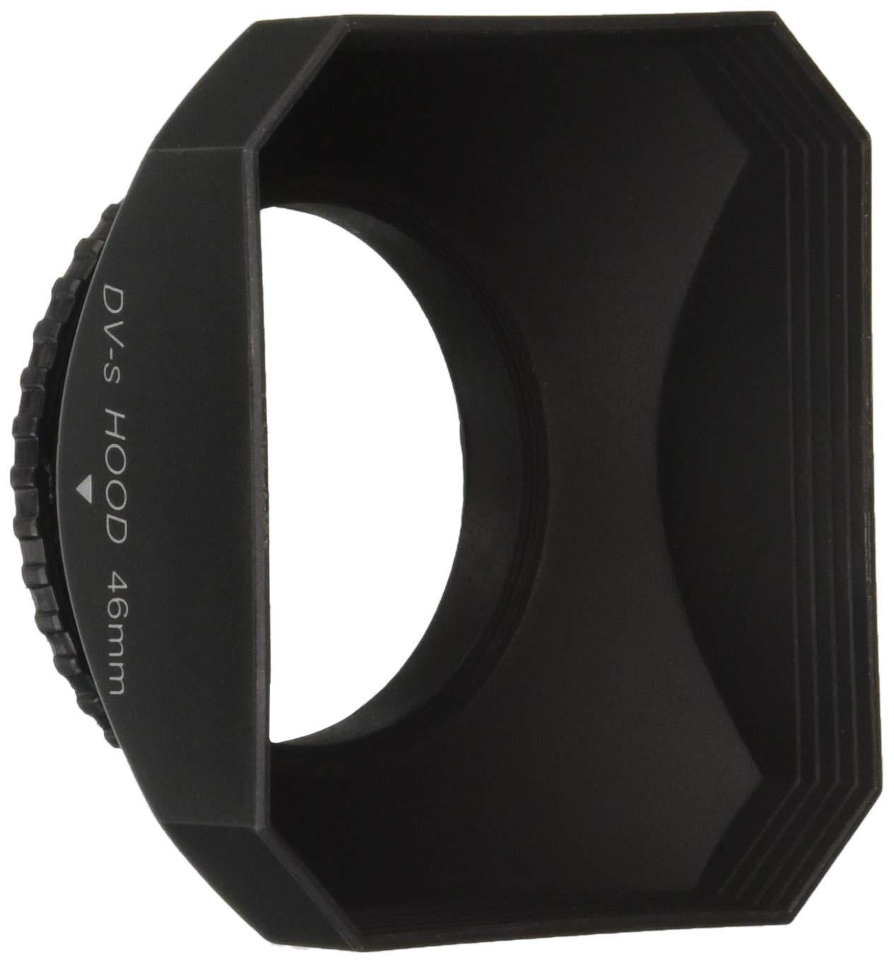 CowboyStudio 46mm DV-s DV Screw Mount Lens Hood with Cap for Digital Video Camera and Camcorder, Sun Shade