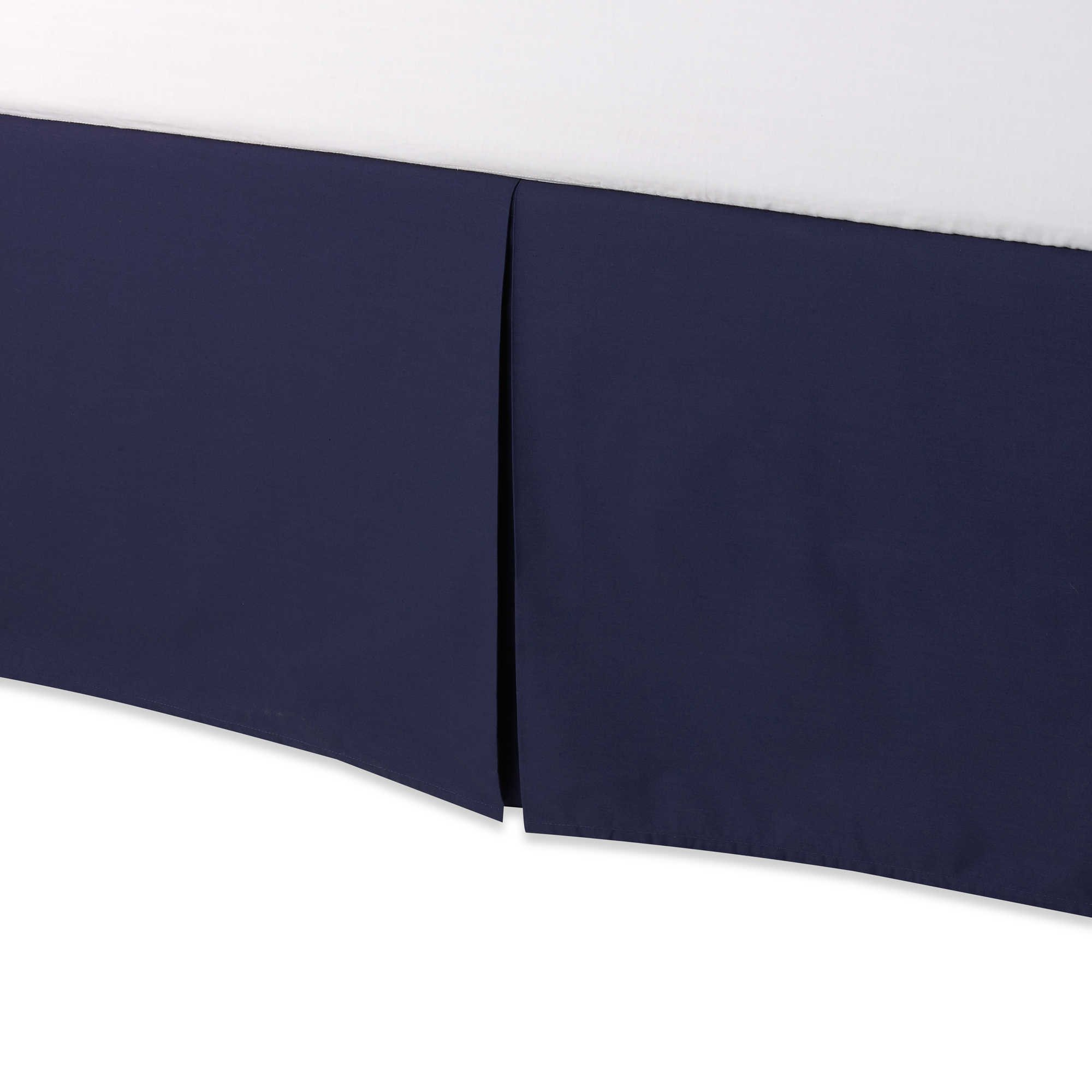Smoothweave Tailored 18-Inch QUEEN Bed Skirt in NAVY