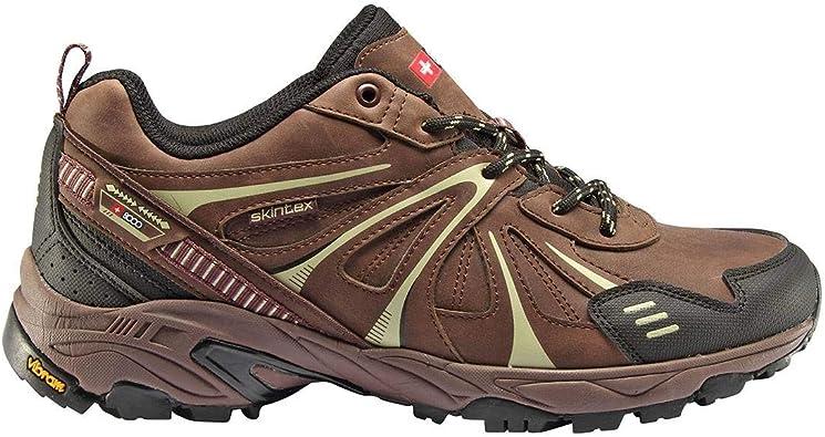 8000 Zapatillas Trekking Telmo marrón Membrana Impermeable Waterproof Skintex y Suela Vibram: Amazon.es: Zapatos y complementos