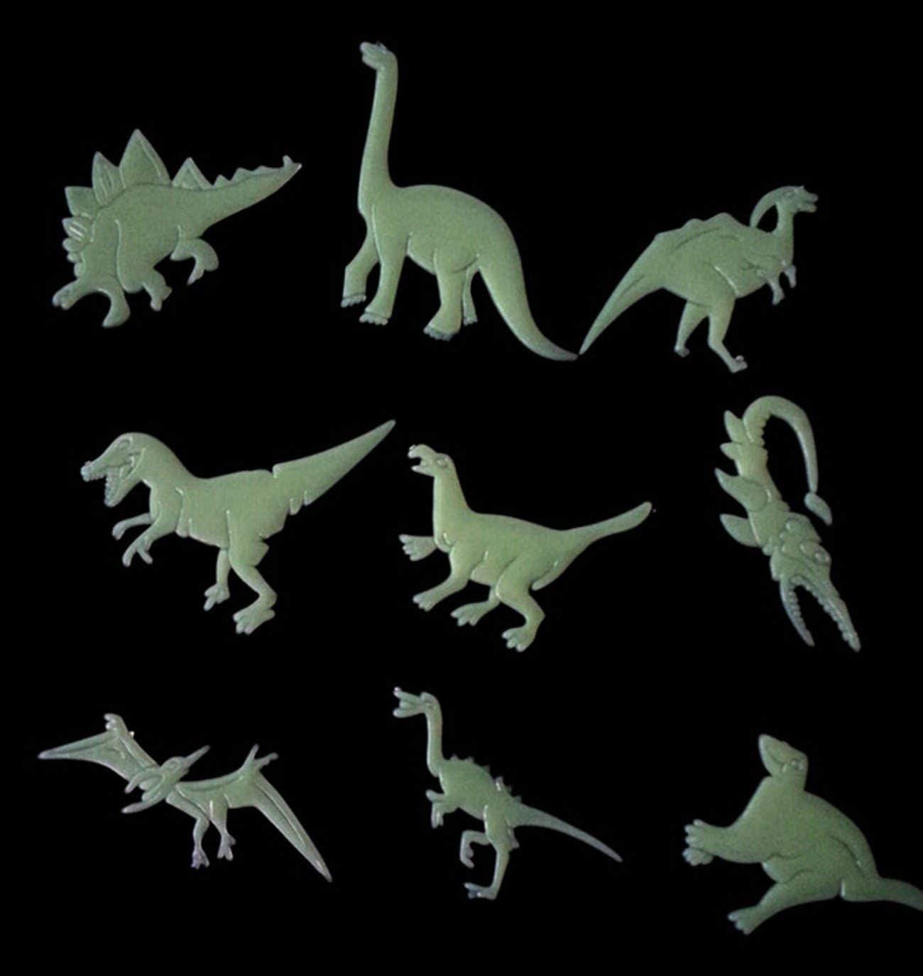3D Luminous Dinosaurs Wall Sticker Creative PVC Cartoon Cute Room Door Decor