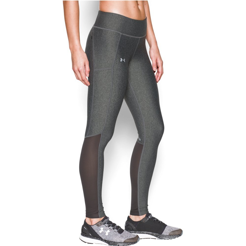 Under Armour Women's Fly-By Legging,Carbon Heather /Reflective, X-Small