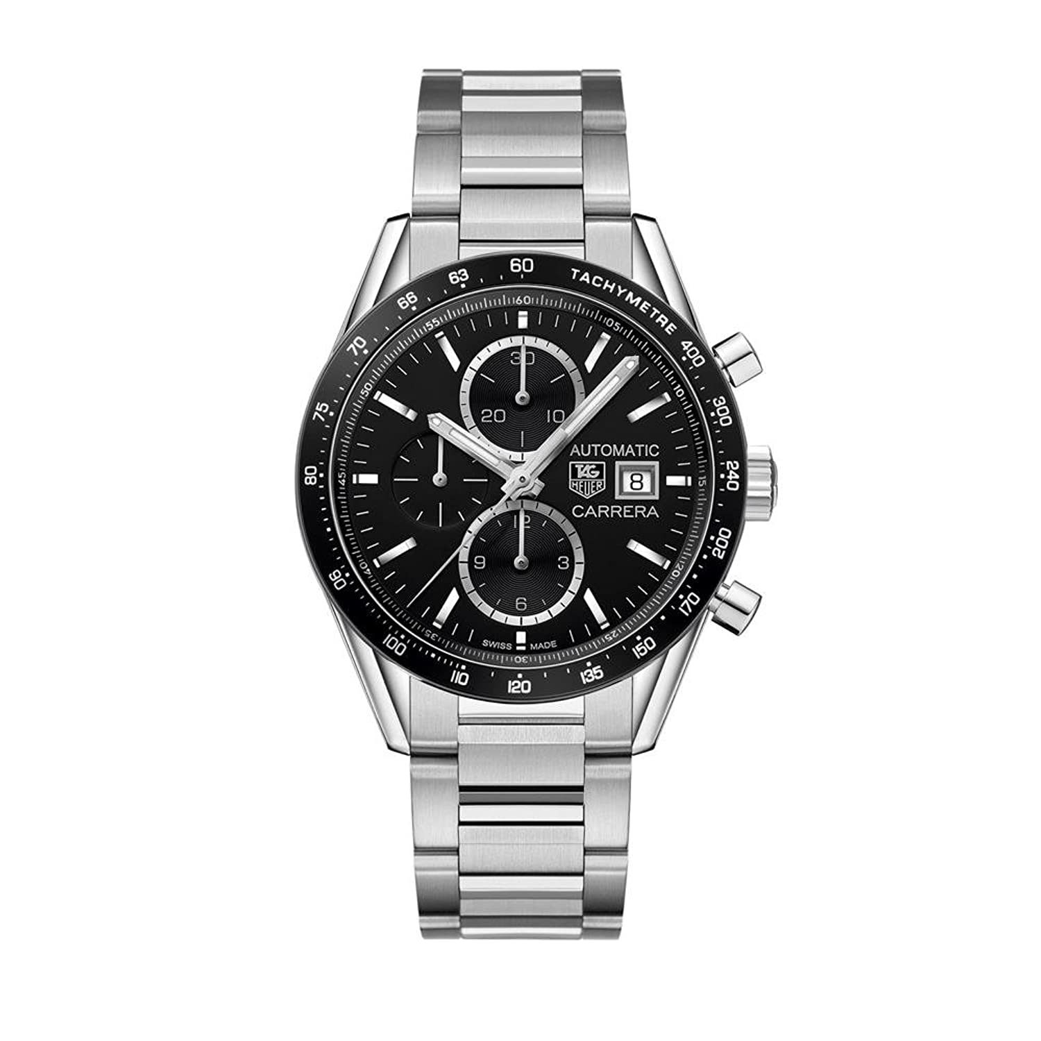 TAG HEUER MEN'S CARRERA 41MM STEEL BRACELET AUTOMATIC WATCH CV201AL.BA0723 B019RCQXLQ