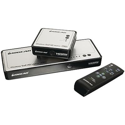 IOGEAR Long Range Wireless 5x2 HDMI Matrix PRO, GWHDMS52MB