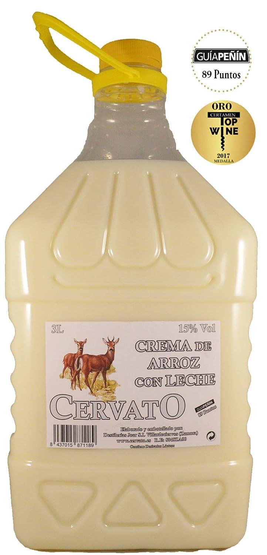 Crema de Arroz Con Leche CervatO PET 3 Litros: Amazon.es: Alimentación y bebidas