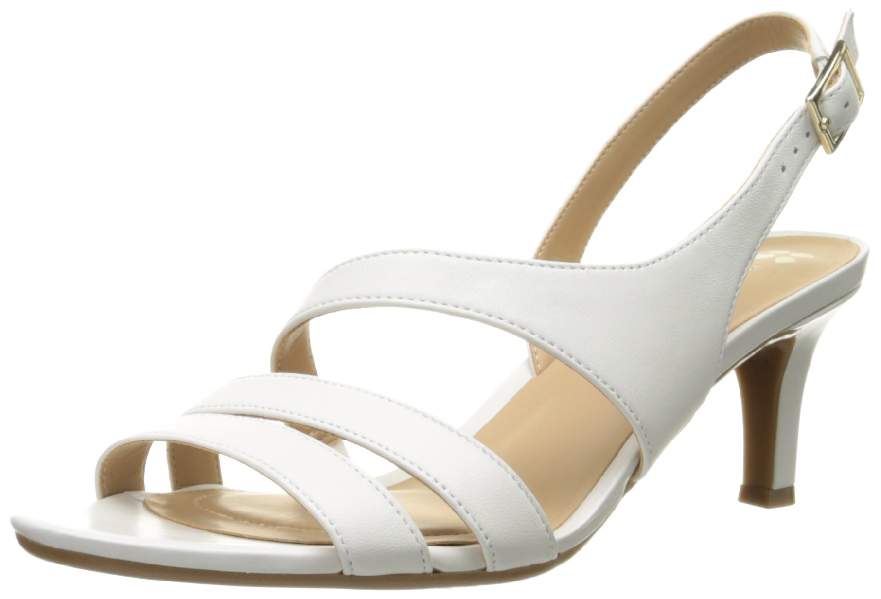 Naturalizer Women's Taimi Dress Sandal, White, 7 M US