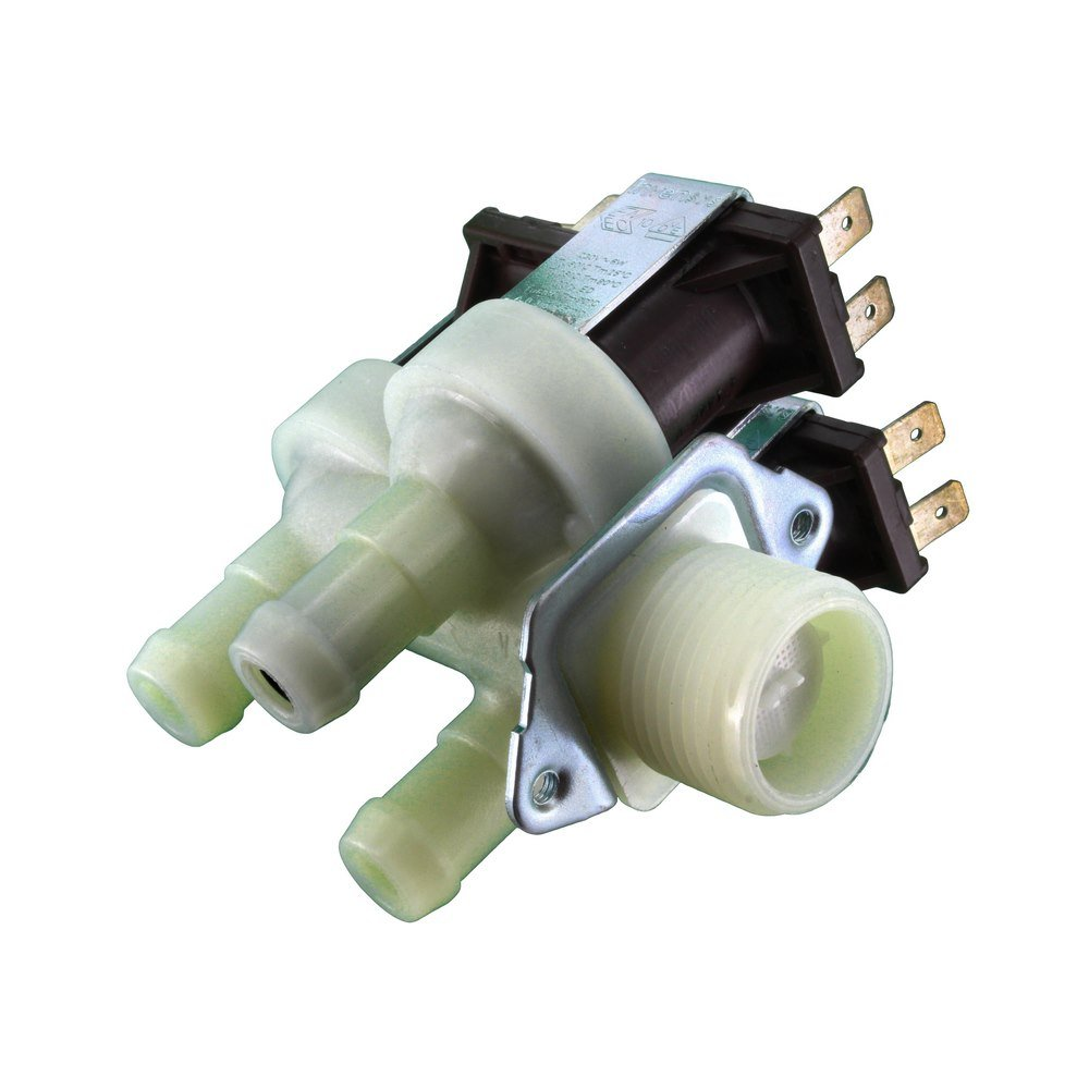 Europart Non Original Bore Washing Machine Triple 3-Way Water Solenoid Valve Fits for Invensys Produced Bosch WP/WOH Series, 14 mm, 90 Degree Maddocks 71-BS-02