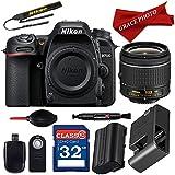 Nikon D7500 DX-format Digital SLR w/AF-P DX NIKKOR 18-55mm f/3.5-5.6G VR Lens + Professional Accessory Bundle (12 items) …