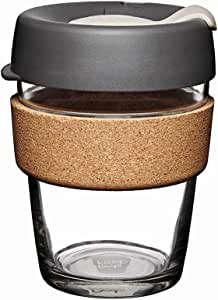 KeepCup, Reusable Glass Cup Brew Cork, Medium 12oz | 340mls, Press