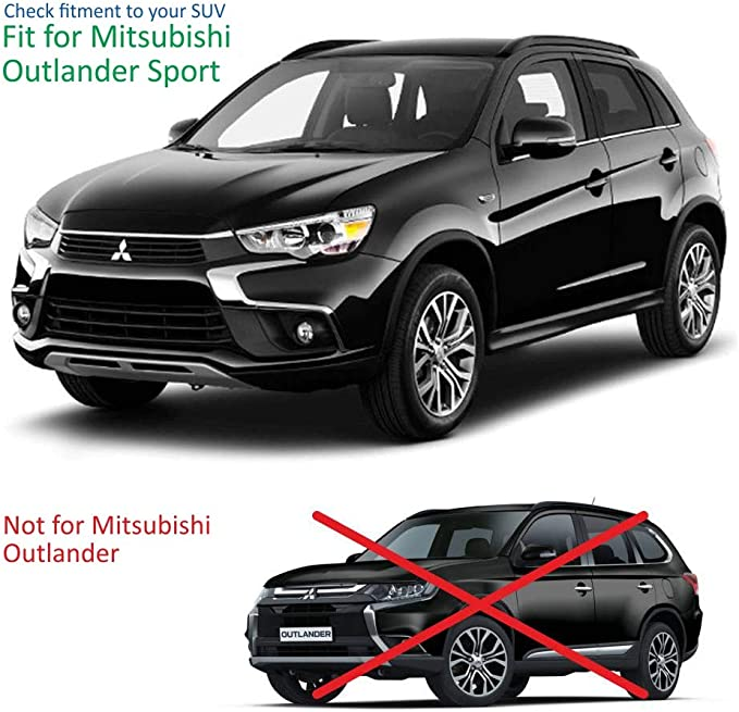 IN-CHANNEL RAIN GUARDS FITS MITSUBISHI OUTLANDER SPORT FRONT /& REARS