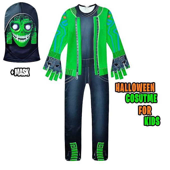 Amazon.com: Disfraz de Halloween para niños con máscara ...