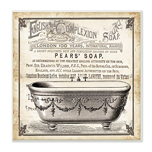 Stupell Home Décor Old English Tub Pears