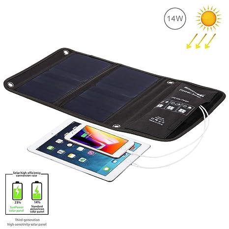 Neoron Panel Solar, Cargador Solar Portátil Plegable De 14W ...