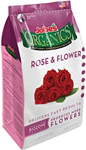 Jobes 09423 Organics Flower & Rose Granular Fertilizer with Biozome, 4 pound bag - 2 Pack