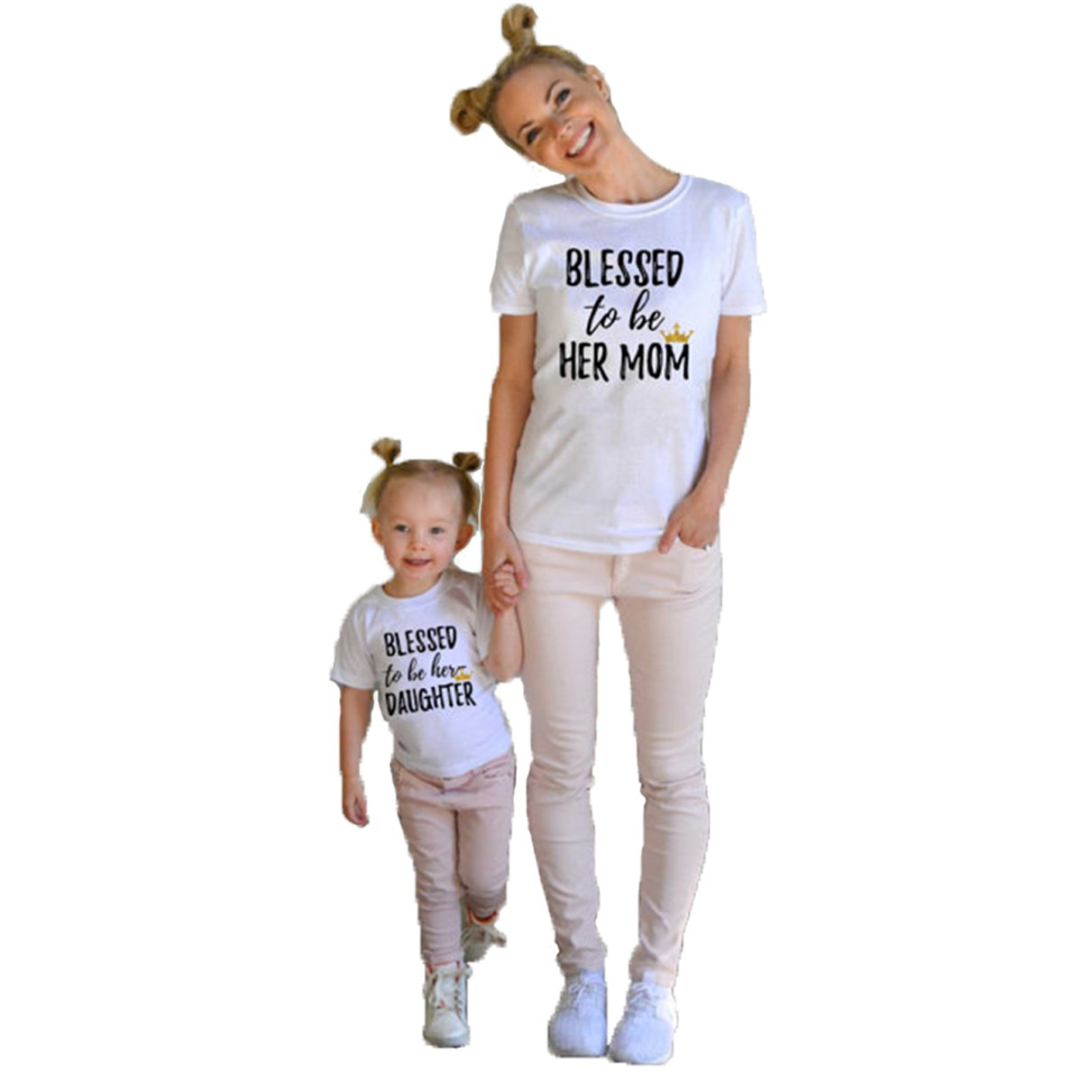 Franterd Mom Dad /& Baby Parent-Child Letter Printed T Shirt Family Clothes Outfits