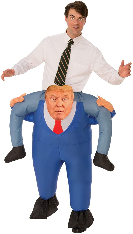 Ride On Donald Trump Costume Adult Funny President Halloween Fancy Dress MAGA
