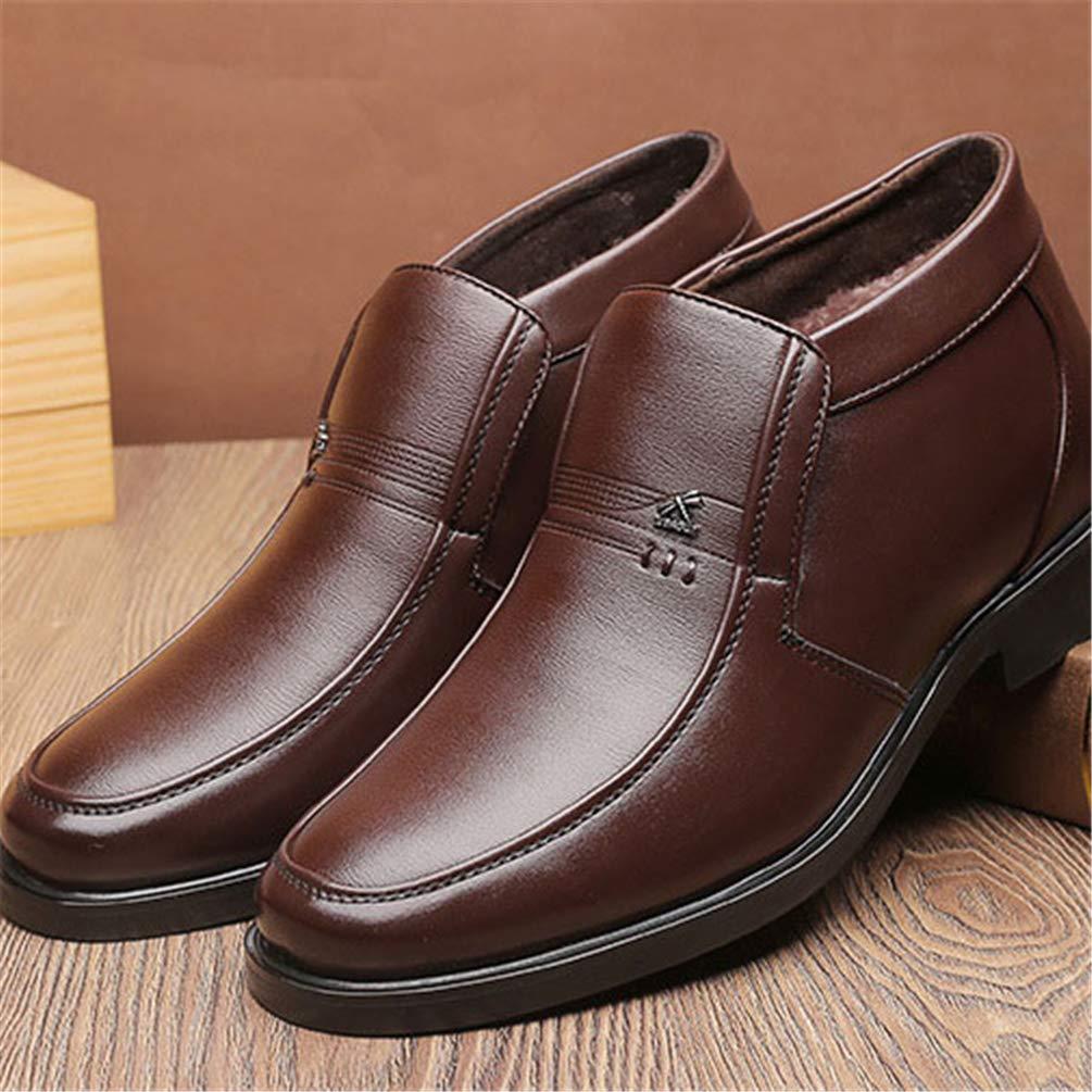cee959f2763 Botte Chaussure Montante pour Homme Garde au Chaud Hiver pour Papa Boot  Chaussure au Loisir en Cuir de Travail de Marche ...